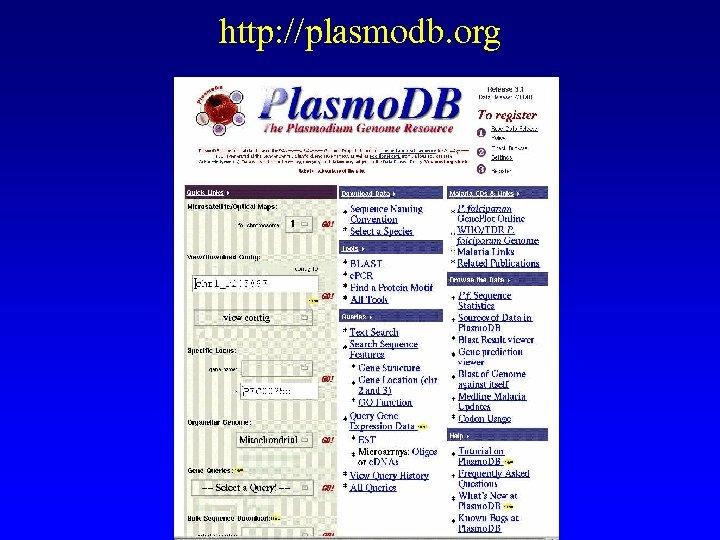 http: //plasmodb. org