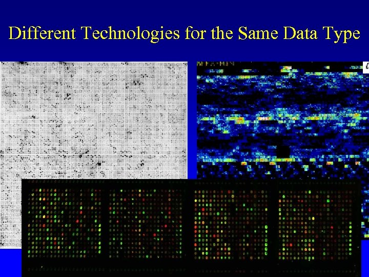 Different Technologies for the Same Data Type