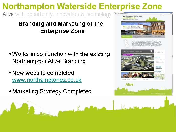 Northampton Waterside Enterprise Zone Branding and Marketing of the Enterprise Zone • Works in
