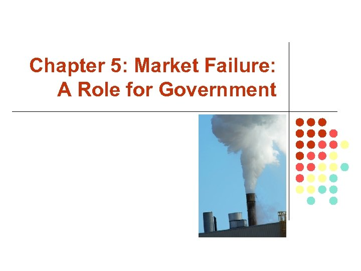 Chapter 5: Market Failure: A Role for Government