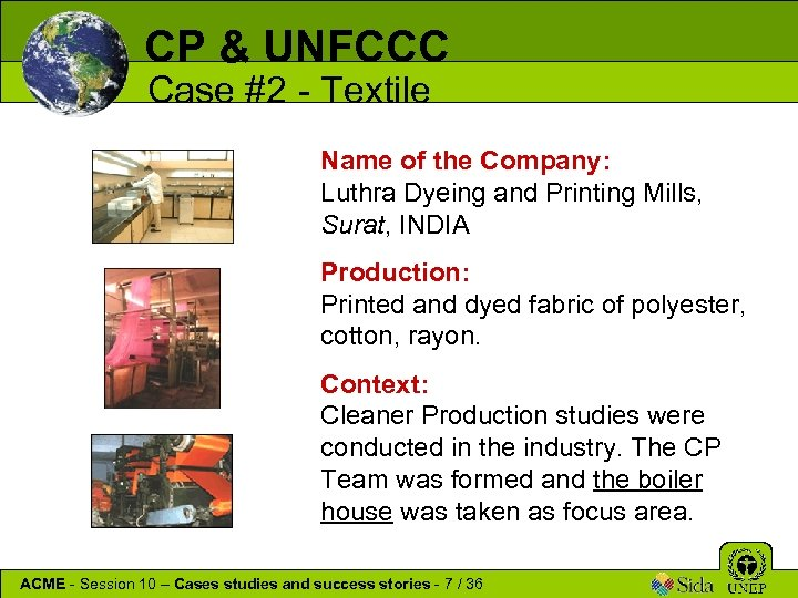 CP & UNFCCC Case #2 - Textile Name of the Company: Luthra Dyeing and