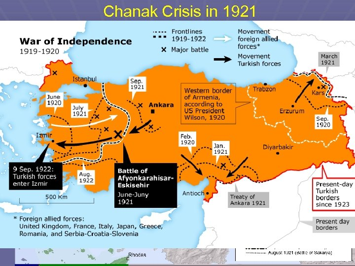 Chanak Crisis in 1921