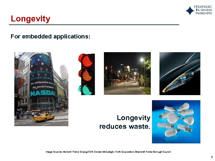Longevity For embedded applications: Longevity reduces waste. Image Sources: Motion 0 Trend; Orange. Te.