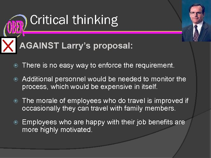 Critical thinking AGAINST Larry's proposal: There is no easy way to enforce the requirement.