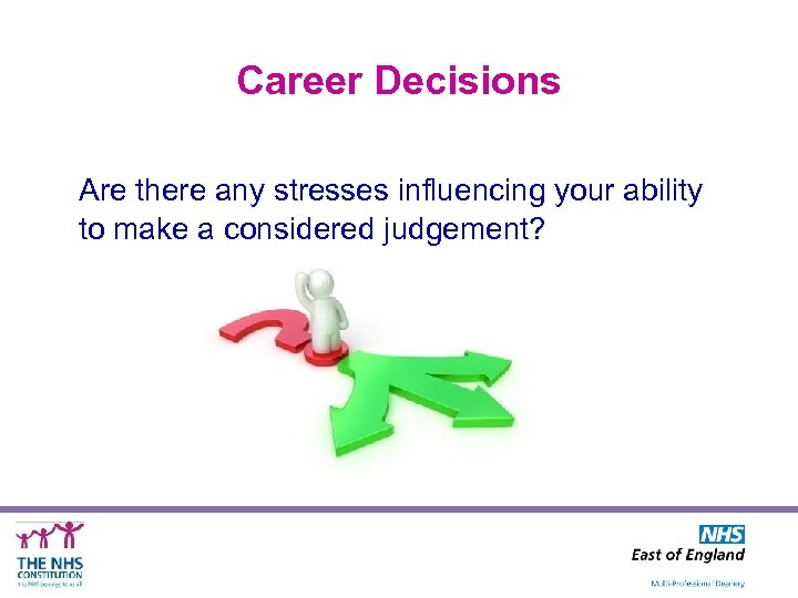 Career Decisions Are there any stresses influencing your ability to make a considered judgement?