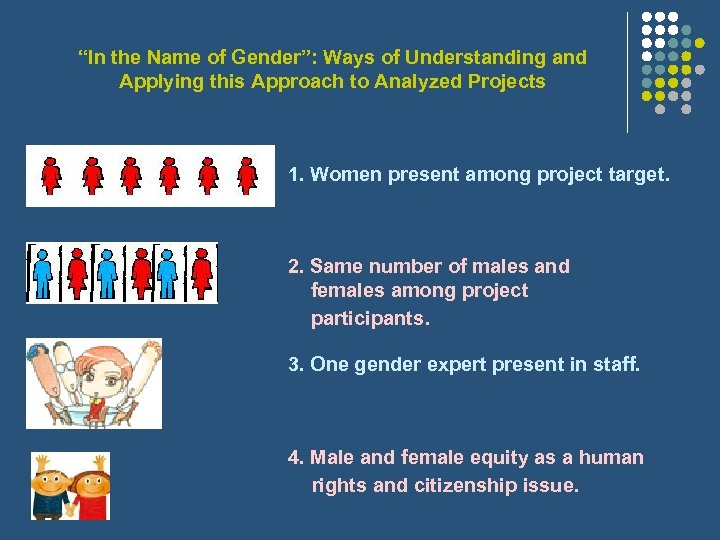 """""""In the Name of Gender"""": Ways of Understanding and Applying this Approach to Analyzed"""