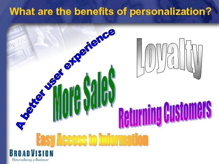 What are the benefits of personalization?