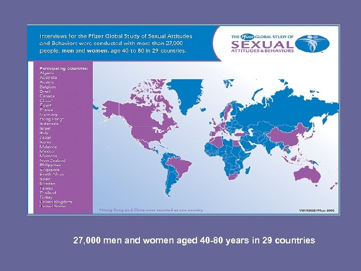 27, 000 men and women aged 40 -80 years in 29 countries