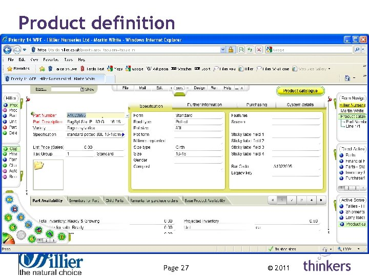 Product definition Page 27 © 2011