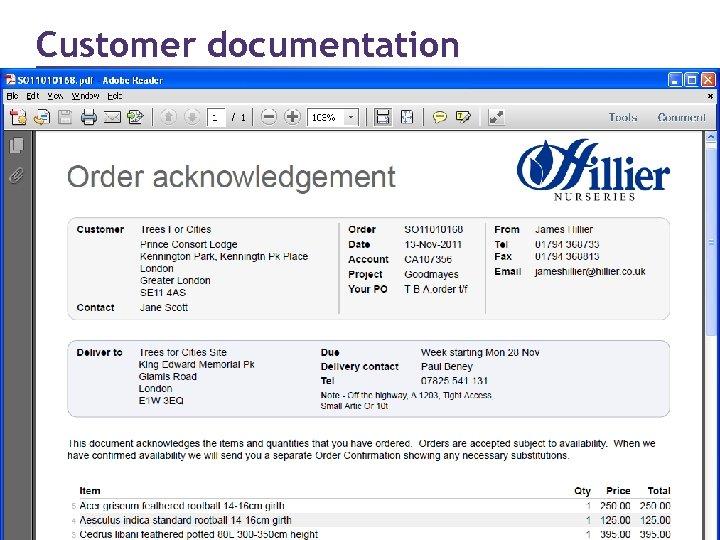 Customer documentation Page 30 © 2011