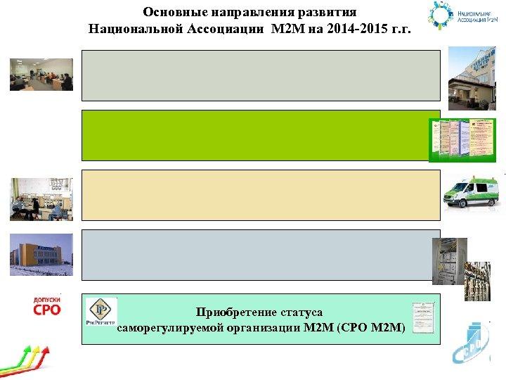 Основные направления развития Национальной Ассоциации М 2 М на 2014 -2015 г. г. Приобретение