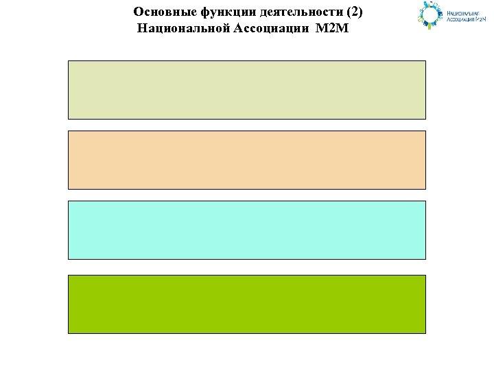 Основные функции деятельности (2) Национальной Ассоциации М 2 М