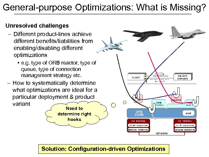 General-purpose Optimizations: What is Missing? Unresolved challenges – Different product-lines achieve different benefits/liabilities from