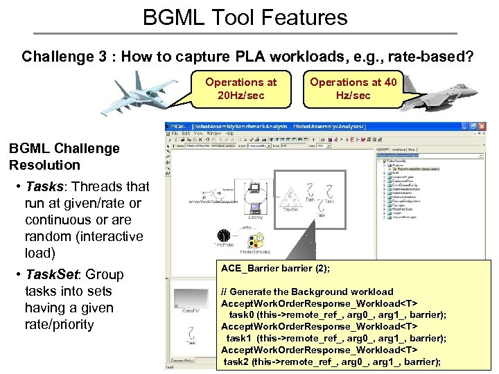 BGML Tool Features Challenge 3 : How to capture PLA workloads, e. g. ,