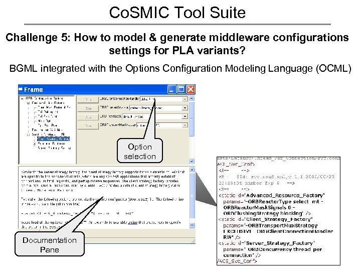 Co. SMIC Tool Suite Challenge 5: How to model & generate middleware configurations settings