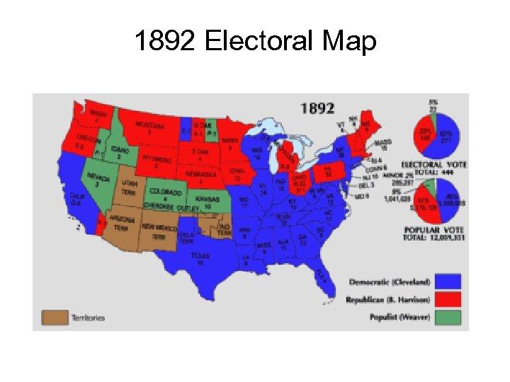 1892 Electoral Map