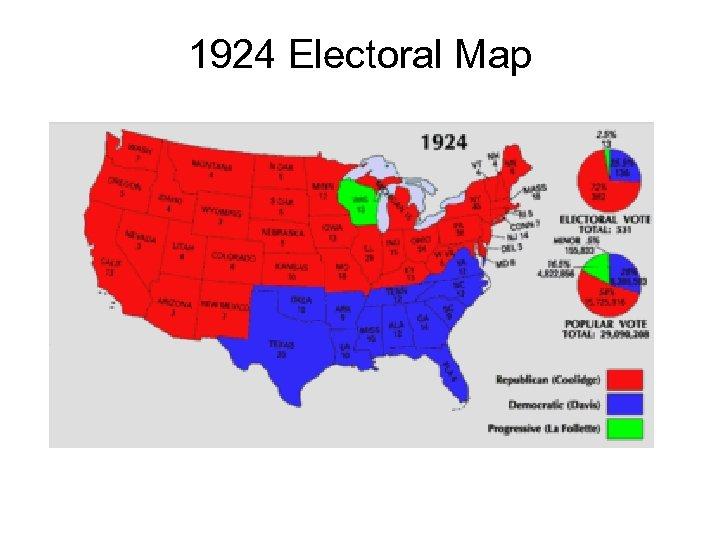 1924 Electoral Map