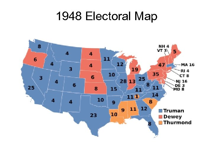 1948 Electoral Map