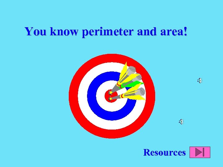 You know perimeter and area! Resources