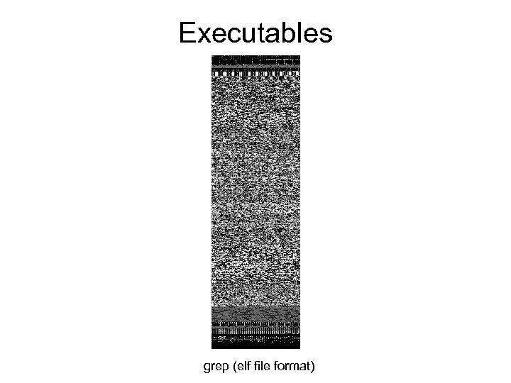 Executables grep (elf file format)