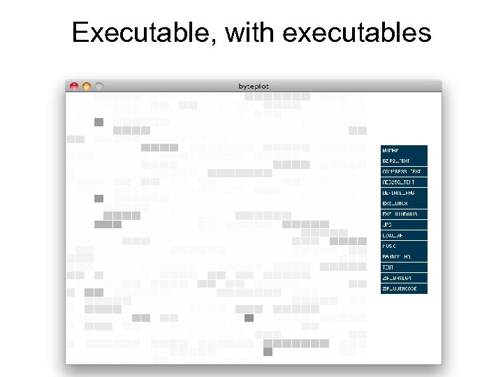 Executable, with executables
