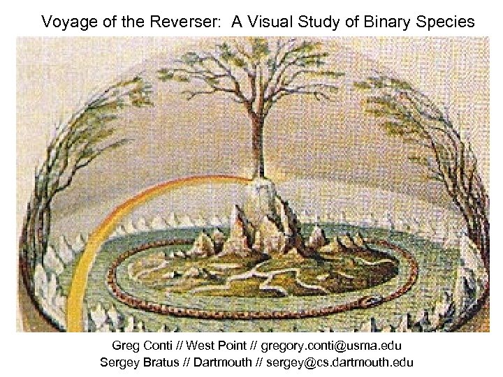 Voyage of the Reverser: A Visual Study of Binary Species Greg Conti // West