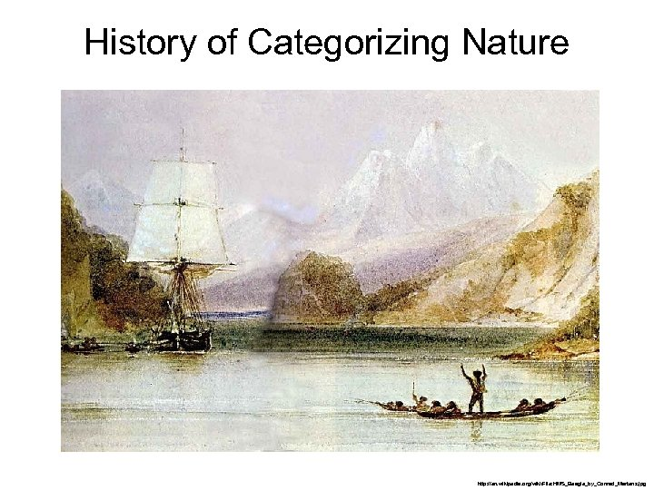 History of Categorizing Nature http: //en. wikipedia. org/wiki/File: HMS_Beagle_by_Conrad_Martens. jpg