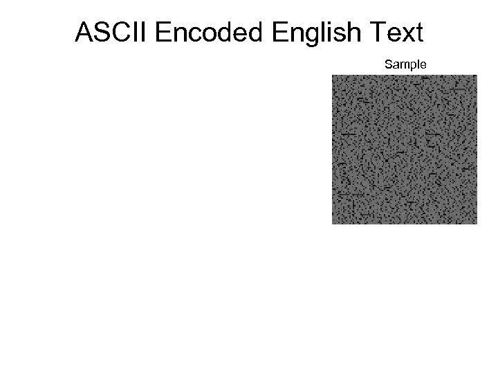 ASCII Encoded English Text Sample