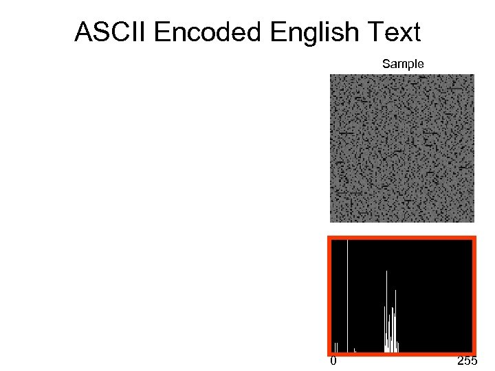 ASCII Encoded English Text Sample 0 255