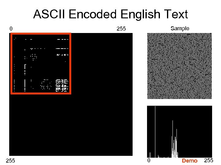 ASCII Encoded English Text 0 255 Sample 255 0 Demo 255