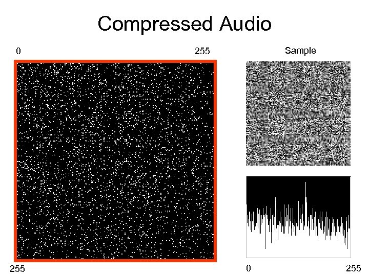 Compressed Audio 0 255 Sample 255 0 255