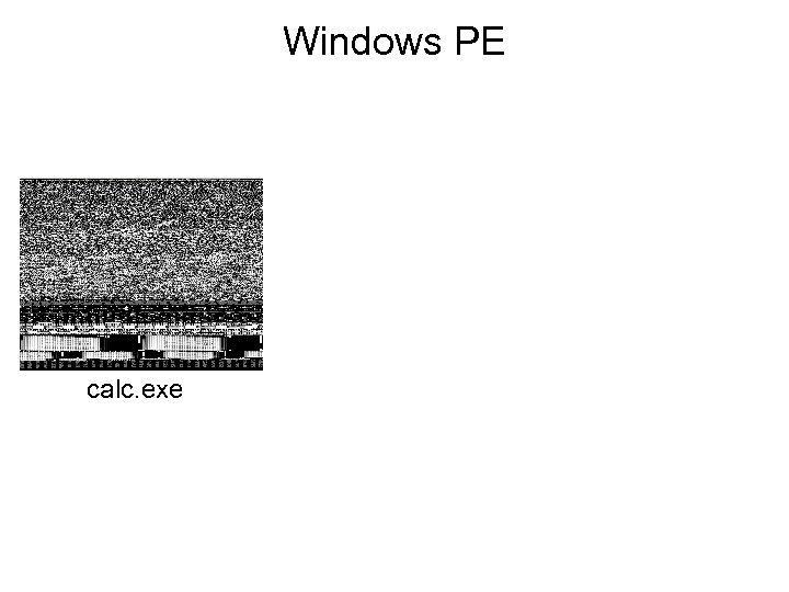 Windows PE calc. exe