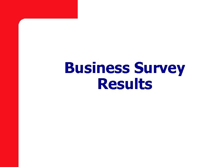 Business Survey Results