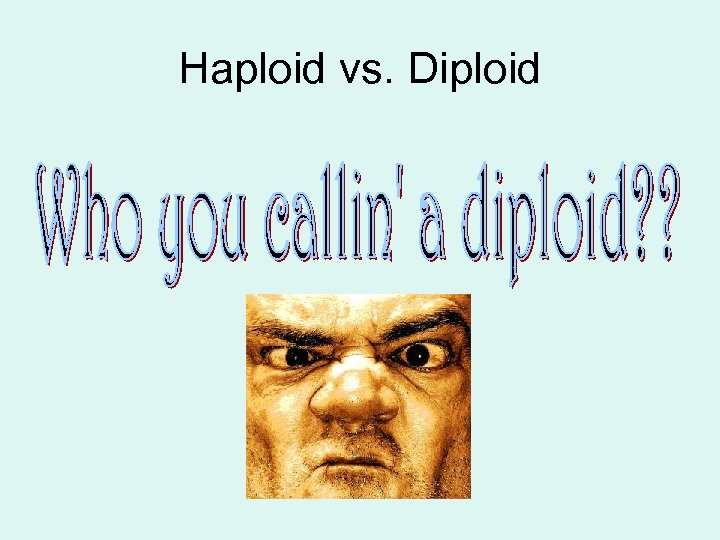 Haploid vs. Diploid