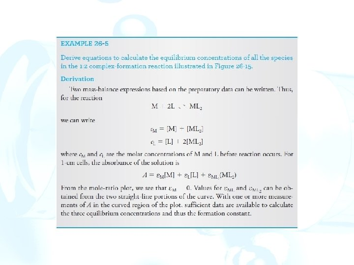 Chapter 26 Molecular Absorption Spectrometry 26 A