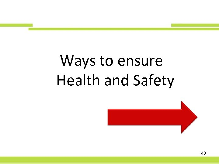60 -Day PFS Ways to ensure Health and Safety 48