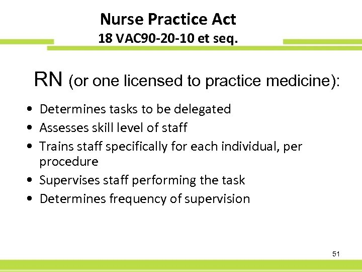 Nurse Practice Act 60 -Day PFS 18 VAC 90 -20 -10 et seq. RN