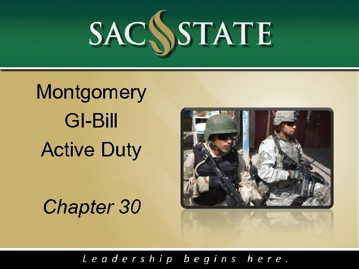 Montgomery GI-Bill Active Duty Chapter 30