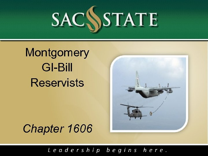 Montgomery GI-Bill Reservists Chapter 1606