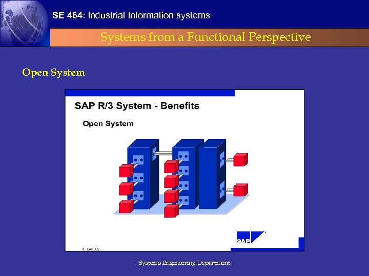 SE 464: Industrial Information systems Systems from a Functional Perspective Open Systems Engineering Department
