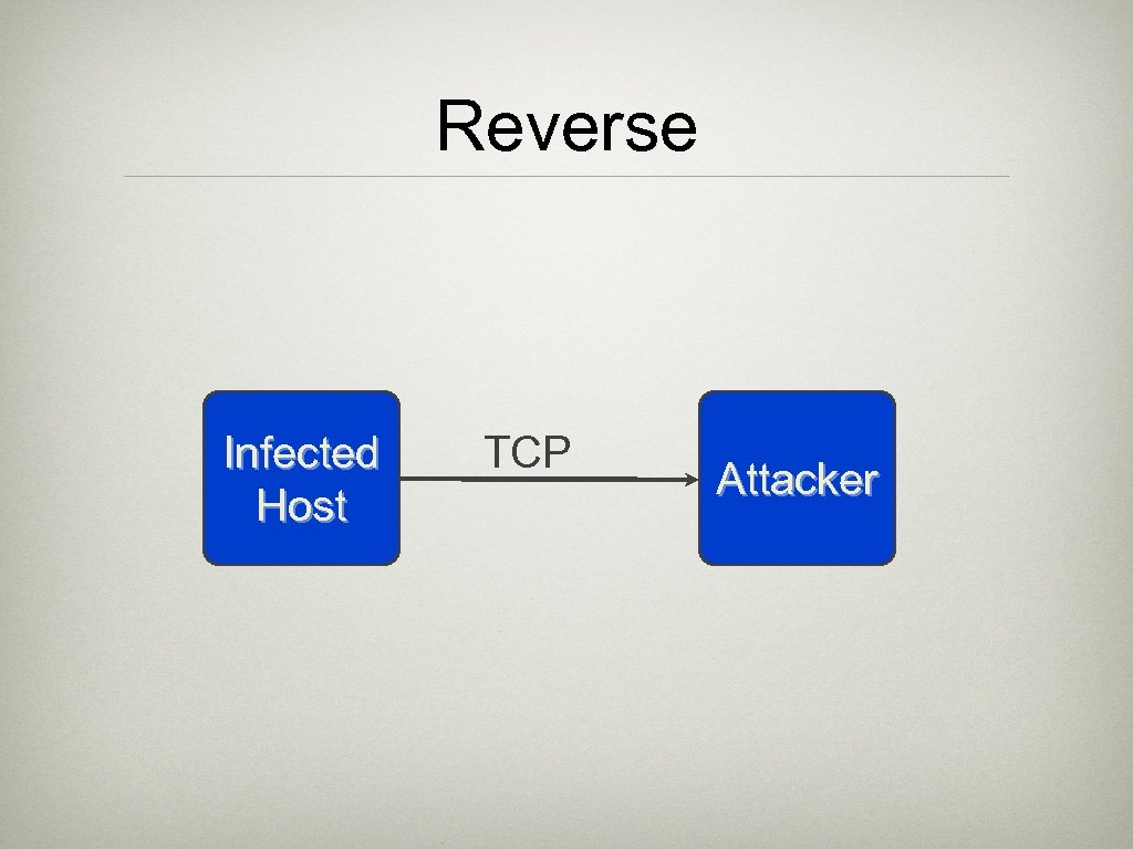 Reverse Infected Host TCP Attacker