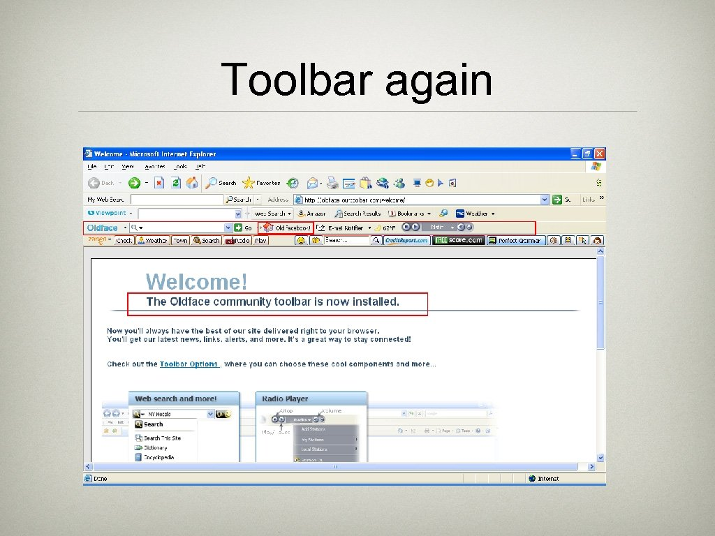 Toolbar again