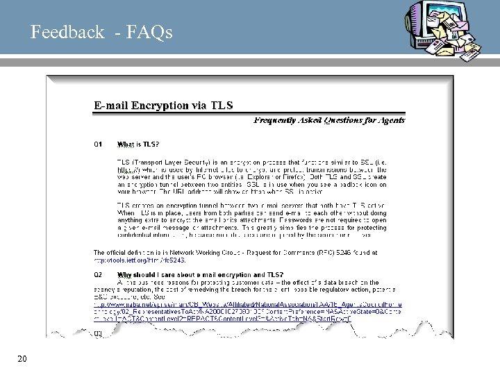 Feedback - FAQs 20