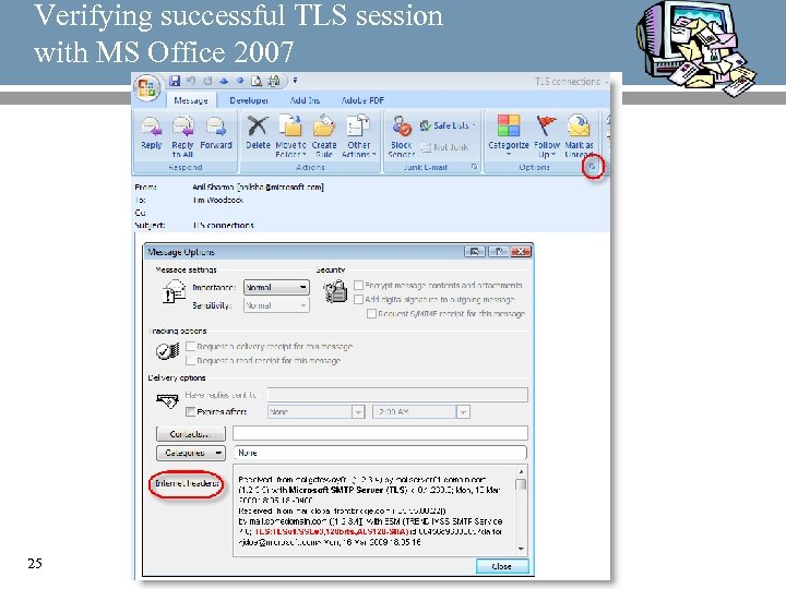 Verifying successful TLS session with MS Office 2007 25