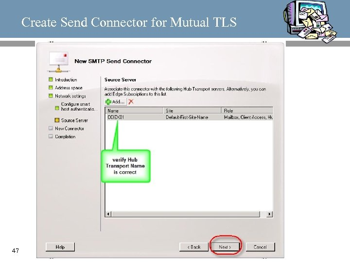 Create Send Connector for Mutual TLS 47