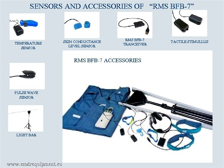 """SENSORS AND ACCESSORIES OF """"RMS BFB-7"""" TEMPERATURE SENSOR SKIN CONDUCTANCE LEVEL SENSOR RMS BFB-7"""
