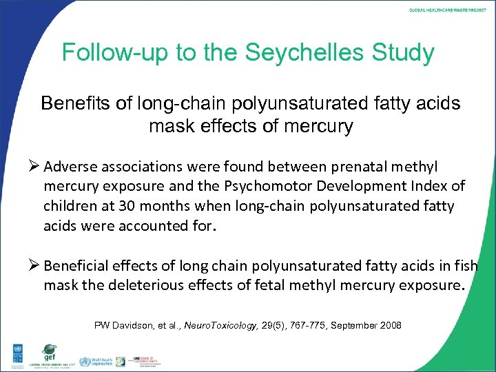 Follow-up to the Seychelles Study Benefits of long-chain polyunsaturated fatty acids mask effects of
