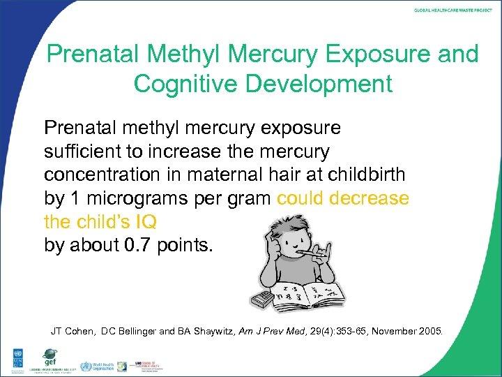 Prenatal Methyl Mercury Exposure and Cognitive Development Prenatal methyl mercury exposure sufficient to increase