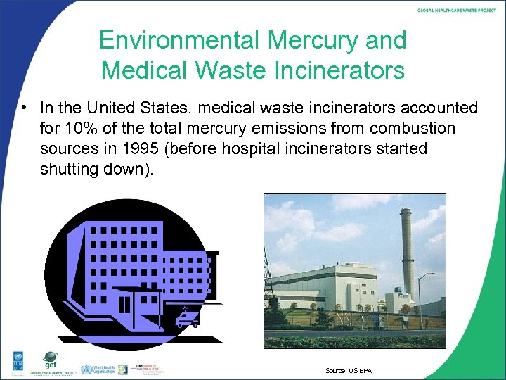 Environmental Mercury and Medical Waste Incinerators • In the United States, medical waste incinerators