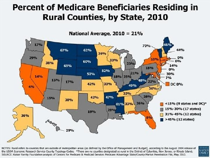 12 states have nearly half or more of the Medicare population living in